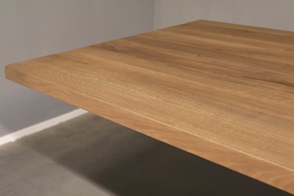 Industriële tafel met metalen Spinpoot - Nieuw eiken