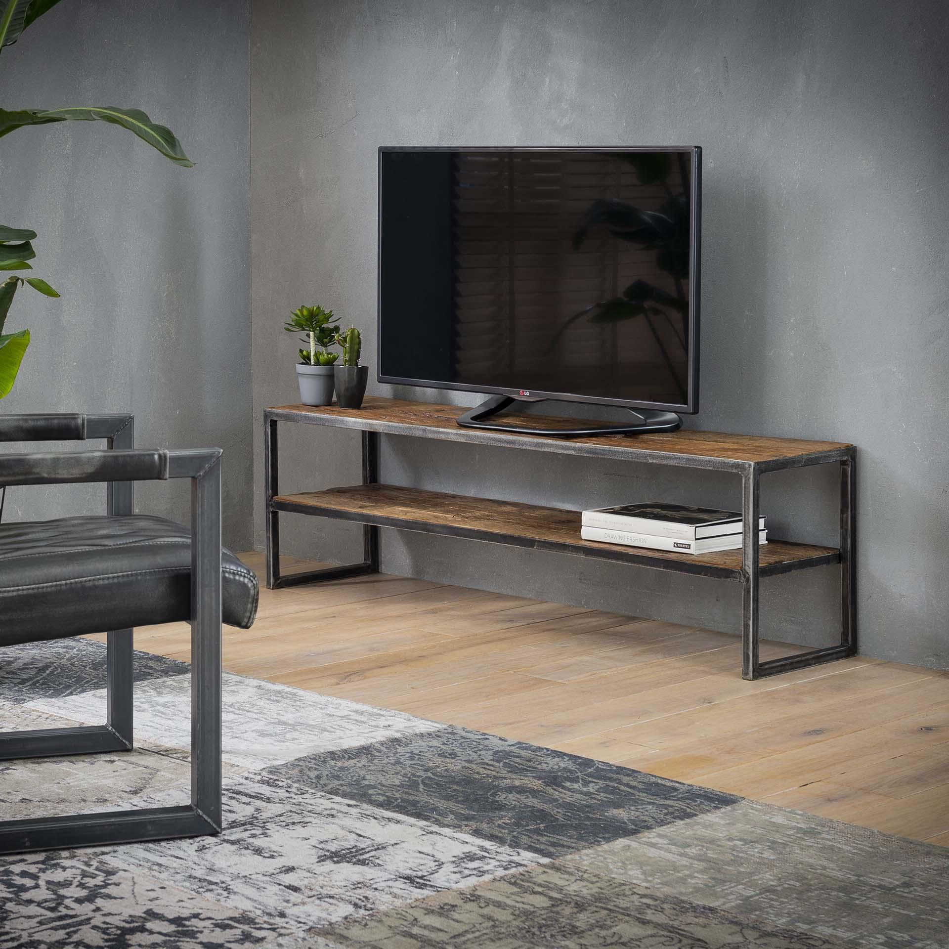 Industrieel tv meubel Siep | Robuust hardhout