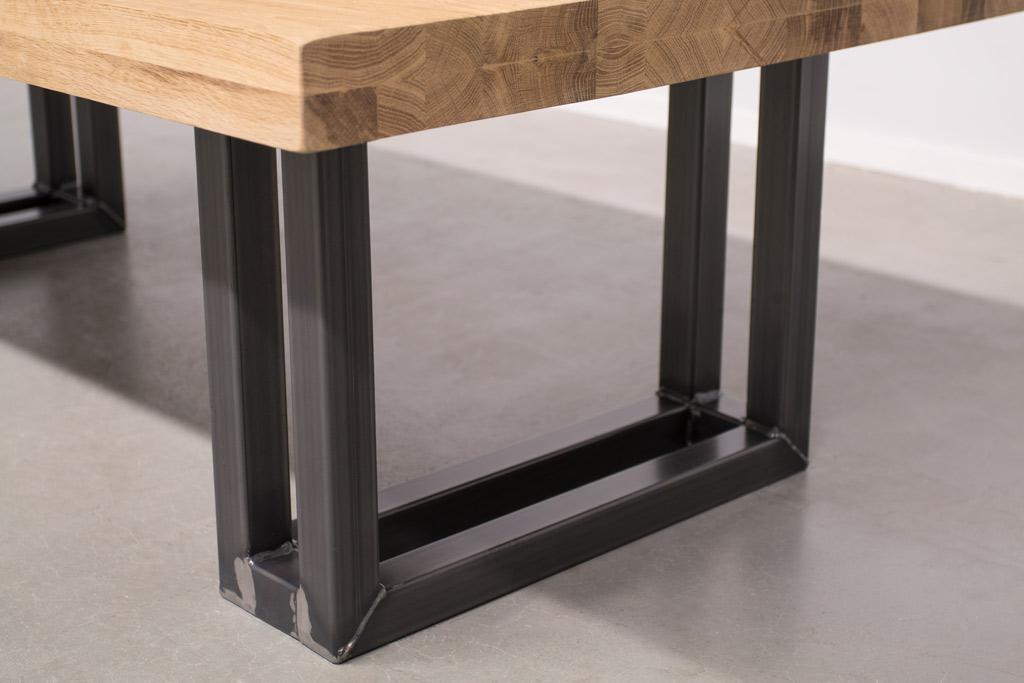 Industriële Salontafel Met Metalen U-Poot Open - Robuust Eiken