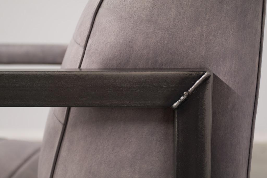Industriële fauteuil Moos