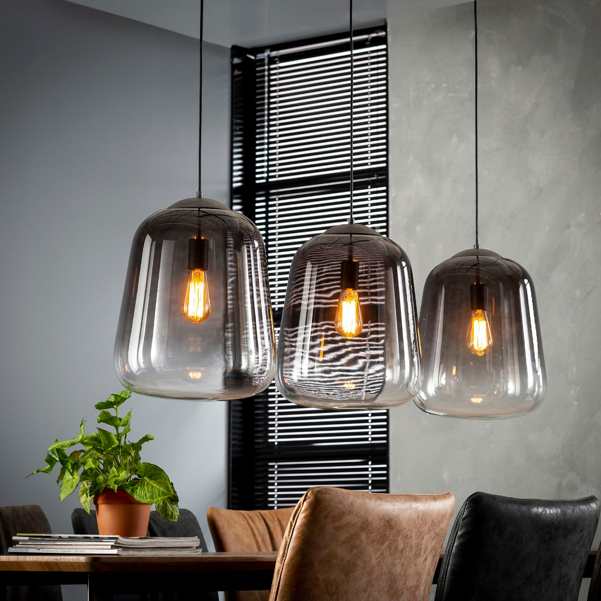 Industriële Hanglamp Shad | Oud zilver