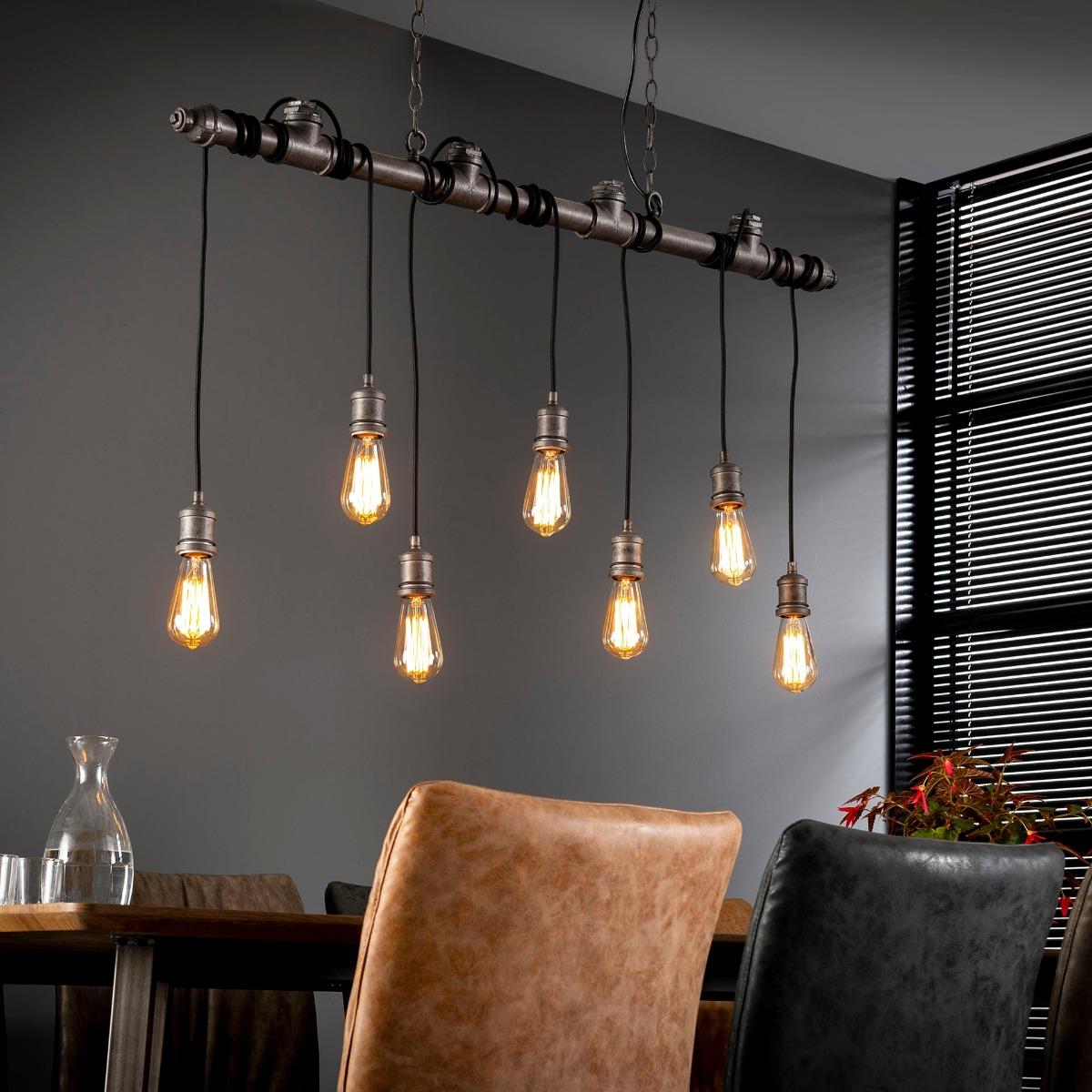 Industriële Hanglamp Wikkel | Oud zilver