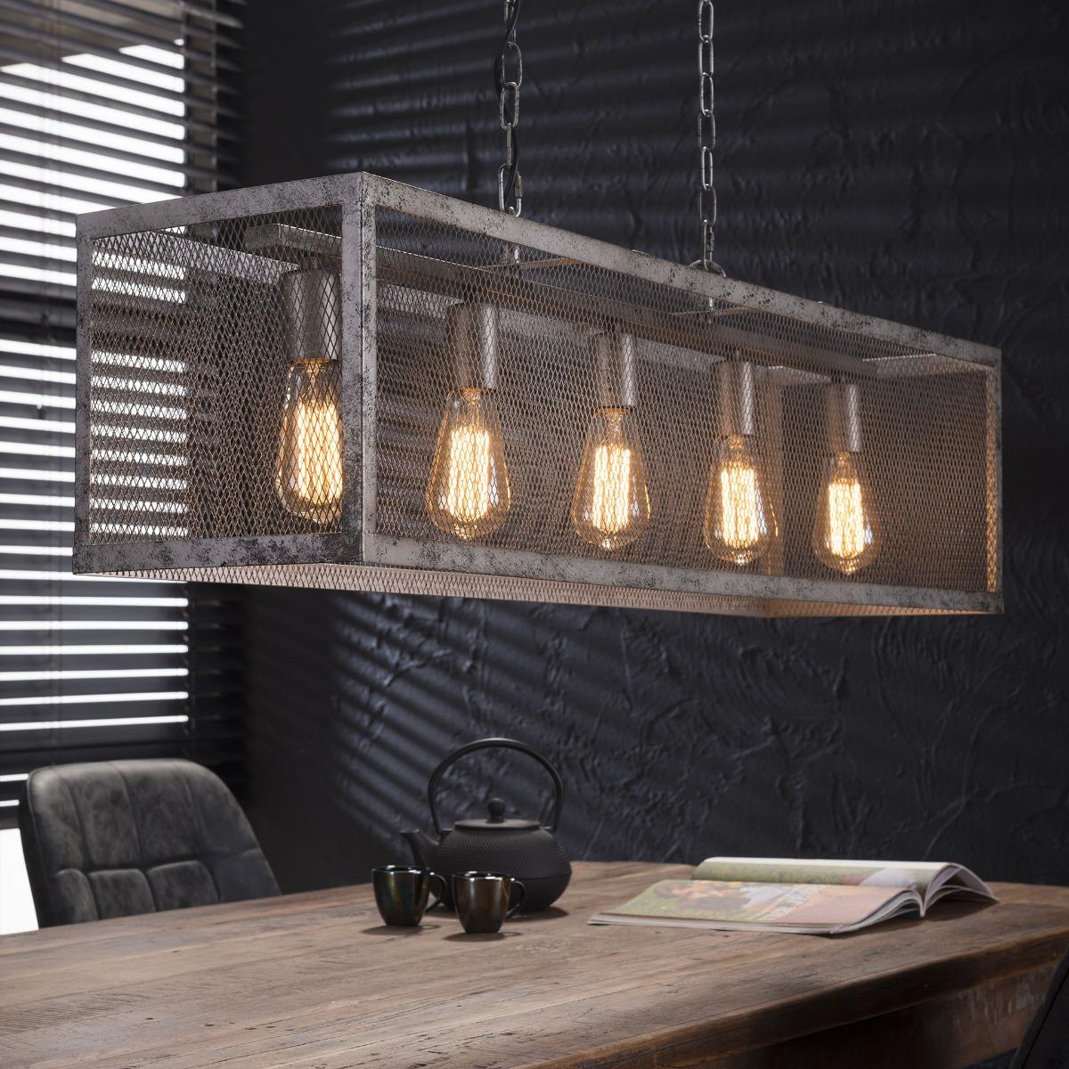 Industriële Hanglamp Ted | Oud zilver