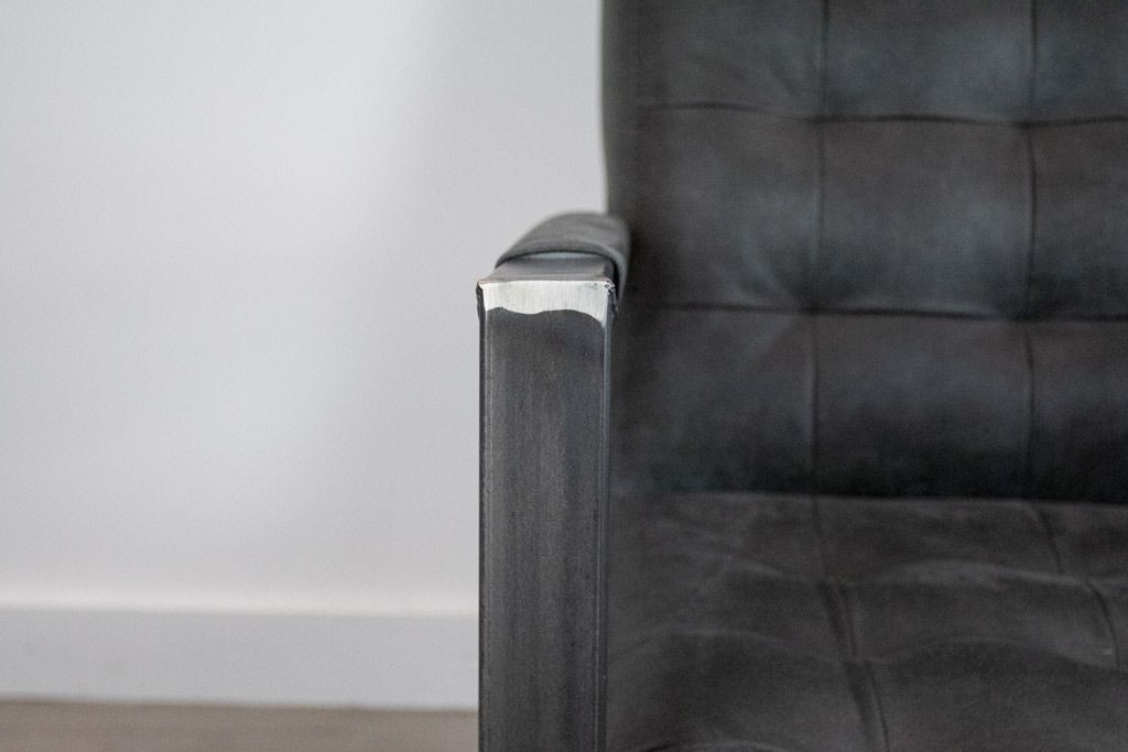 Industriële stoffen fauteuil Rock