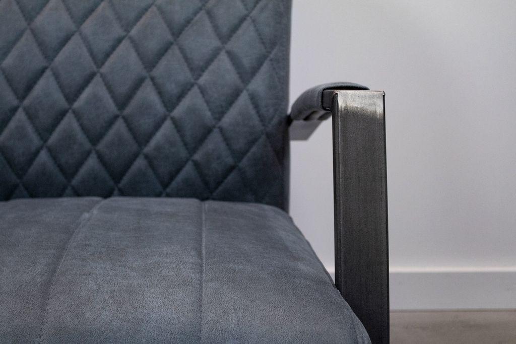 Industriële stoffen fauteuil Flo