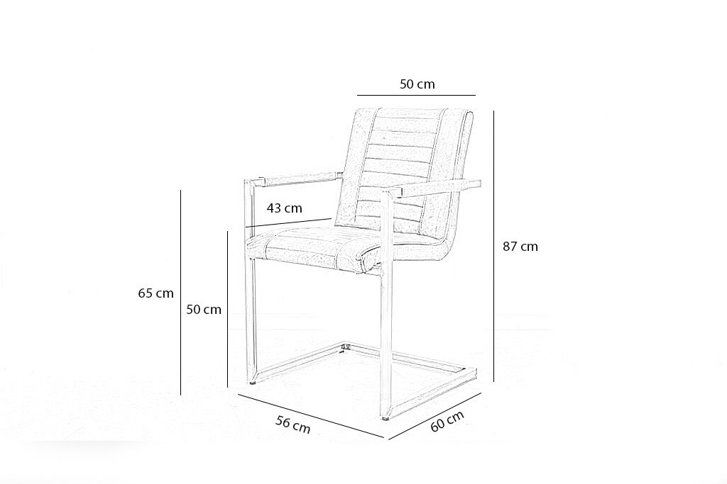 Industriële eetkamerstoel Melf | Velvet stof | vierkant frame