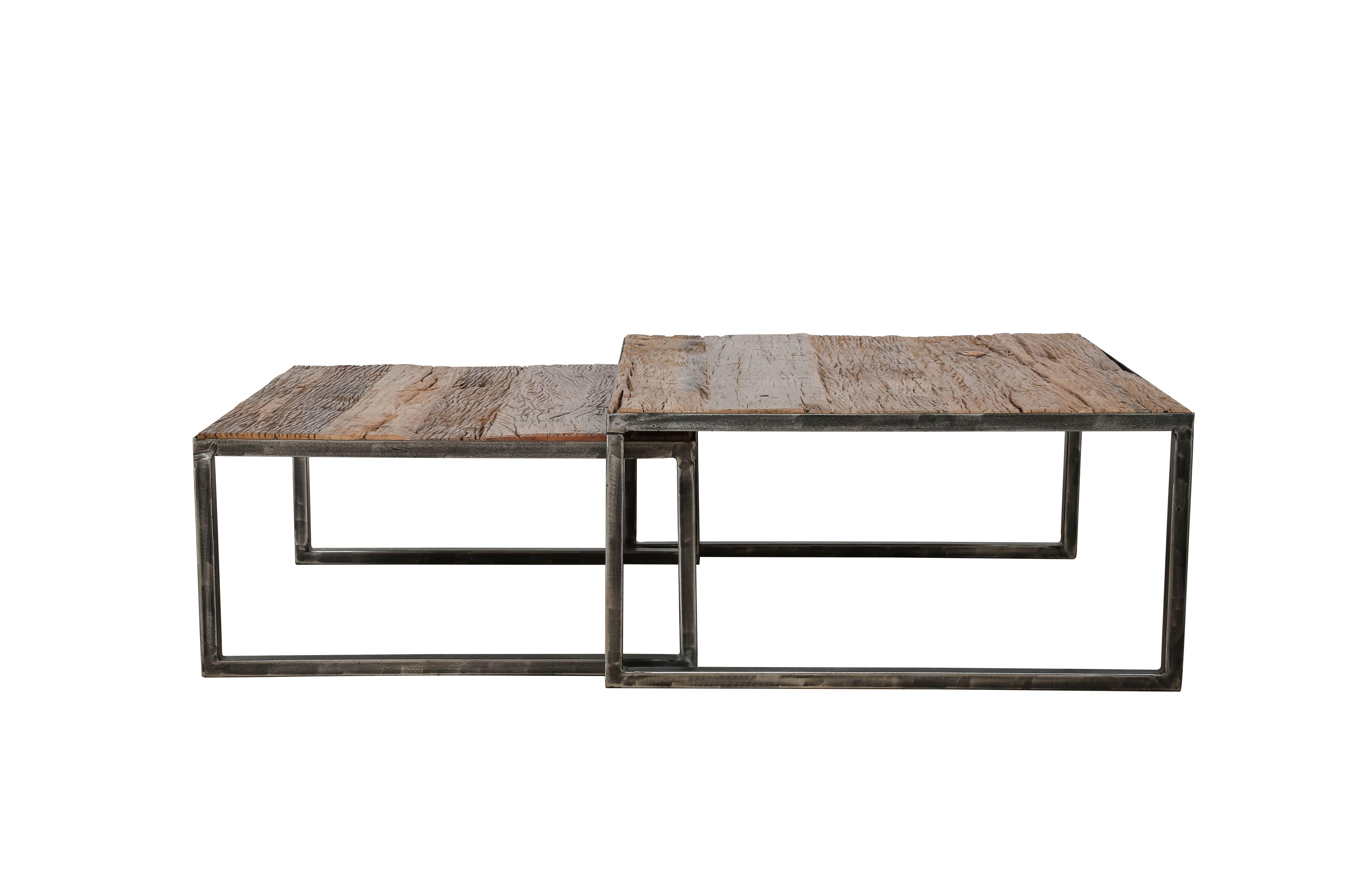 Salontafel set Siep| Robuust hardhout | 2 tafeltjes