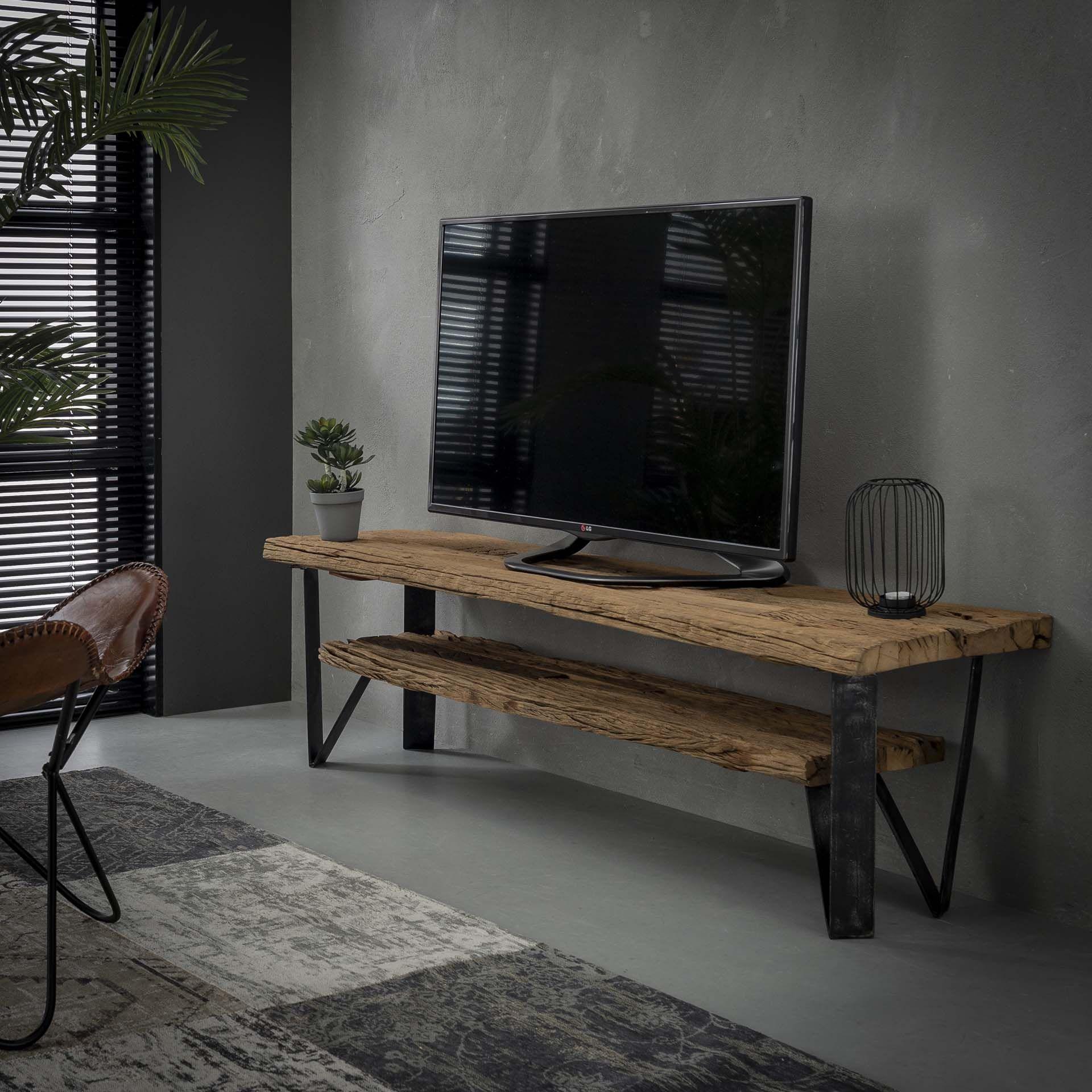 TV meubel Bink | Robuust hardhout | 160x40cm