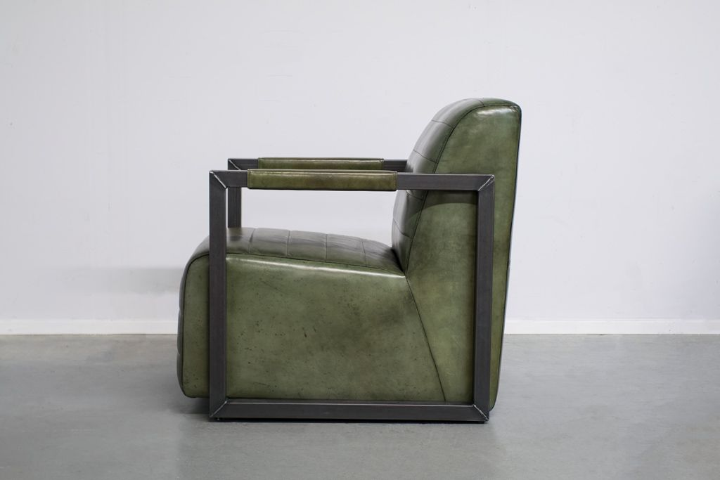 Industriële fauteuil Moos   Vintage Art