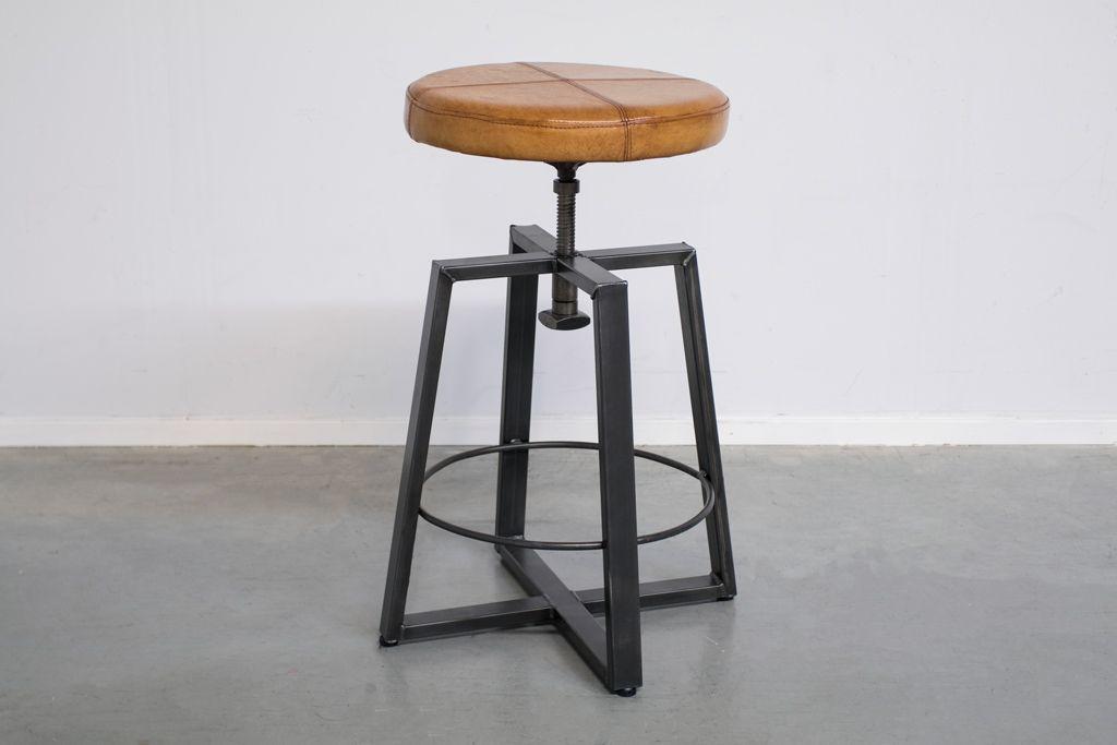 Industriële kruk Xin | Vintage Art | midden