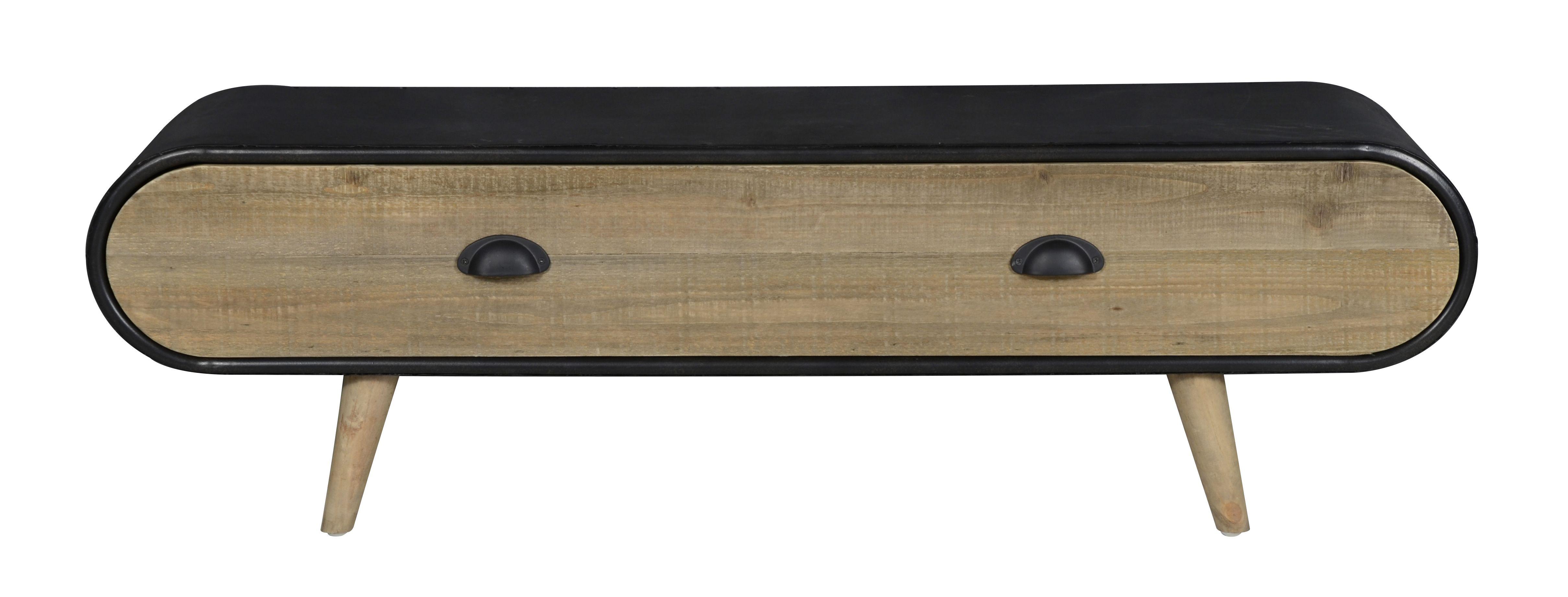 Industrieel tv meubel Trunk   1 lade